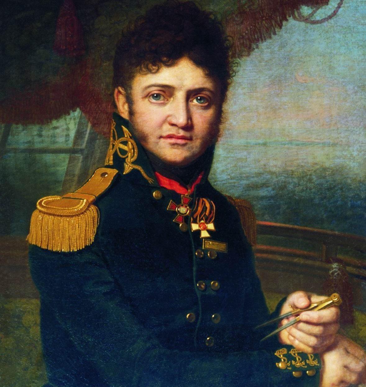 Худ. В.Боровіковський. Портрет мореплавця Ю.Ф.Лисянського, 1809 р.