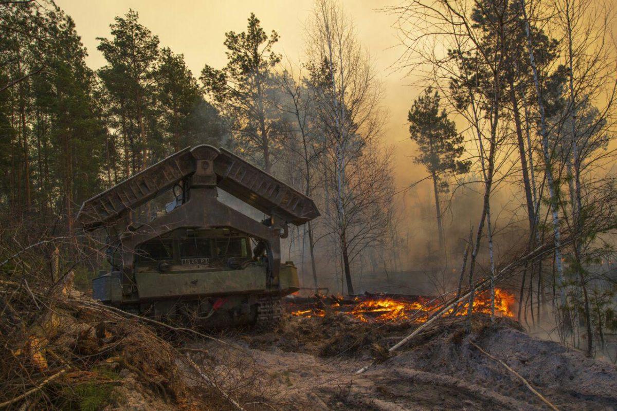 У гасінні пожеж в лісах на Житомирщині допомагають бердичівські артилеристи