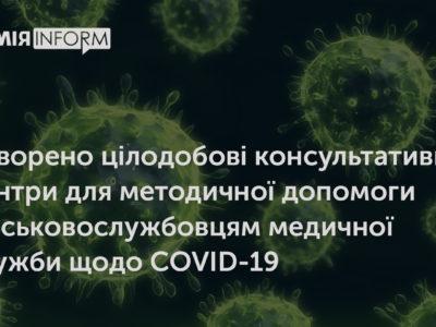 Cтворено цілодобові консультативні центри для методичної допомоги військовослужбовцям медичної служби щодо COVID-19