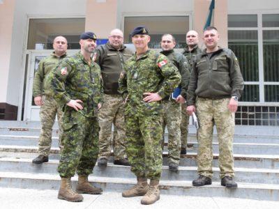 Тренувальна група Збройних сил Канади UNISIEF відвідала Військовий коледж сержантського складу ВІТІ імені Героїв Крут