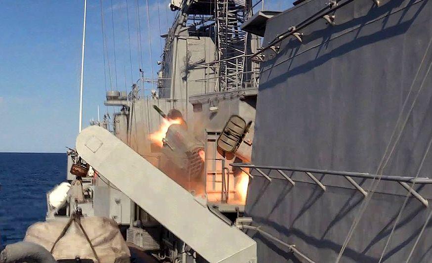 Екіпаж фрегату ВМС ЗС України «Гетьман Сагайдачний» відпрацював елементи захисту корабля від високоточної зброї противника