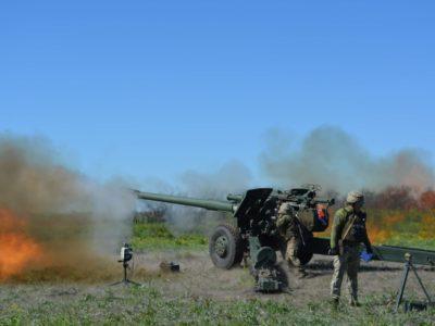 На Донеччині артилеристи ООС знищували цілі за допомогою аеророзвідки