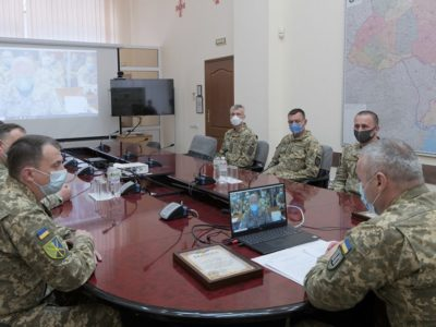 Командувач Об'єднаних сил ЗСУ Сергій Наєв провів відеоконференцію з українськими миротворцями в Конго