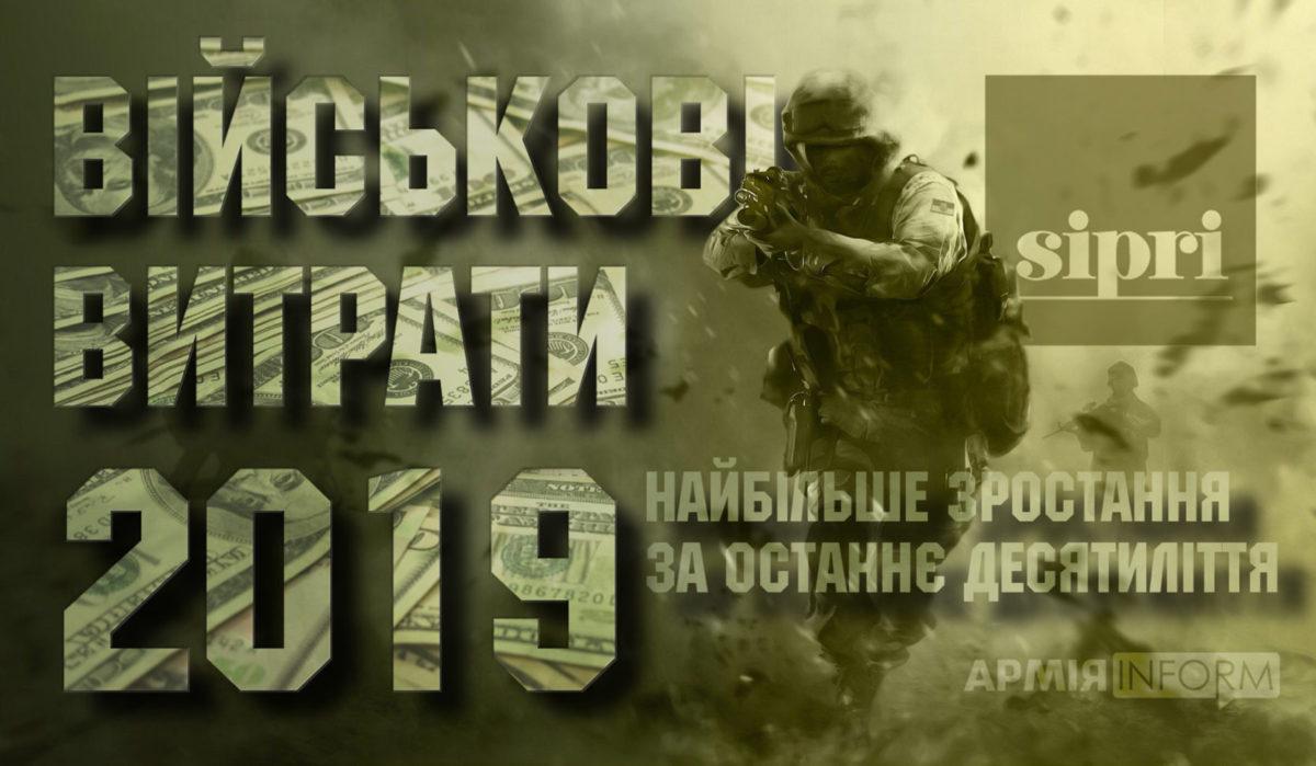 Військові видатки – 2019: найбільше зростання за останнє десятиліття