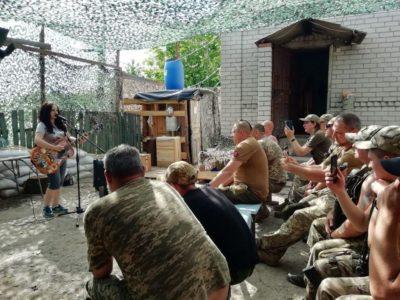 До «холодноярівців» завітала з концертом Христина Панасюк