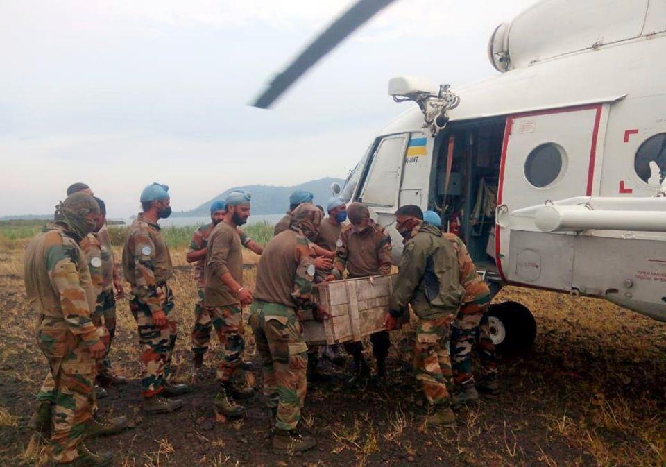 Українські вертолітники  в ДР Конго забезпечили ротацію індійських миротворців