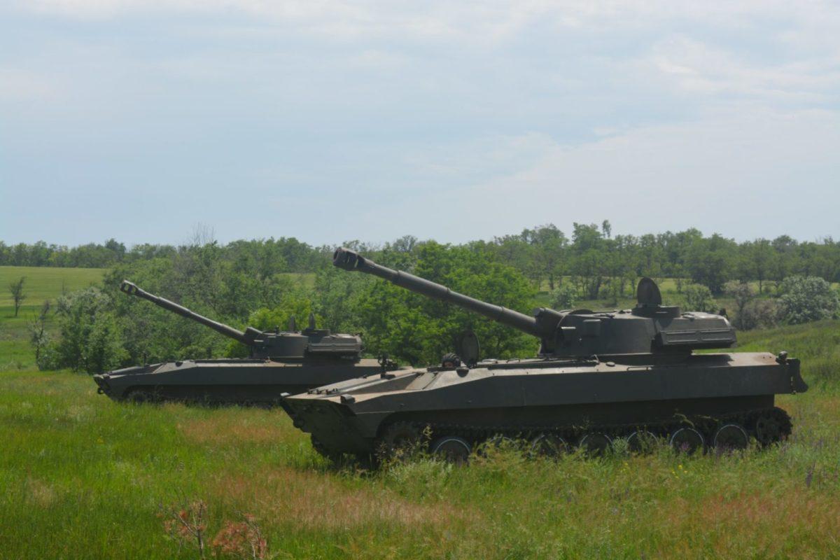 У районі проведення ООС артилеристи постійно підтримують бойову готовність