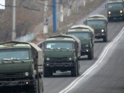 На територію України з боку Росії в'їхали понад сто військових вантажівок – штаб ООС