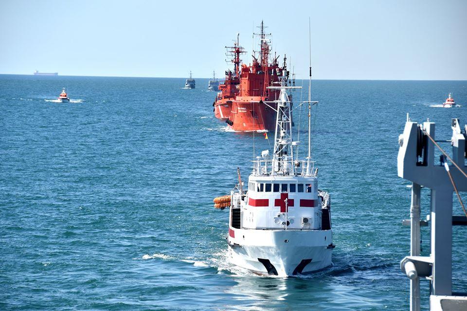 В акваторії Чорного моря відбувся збір-похід кораблів, катерів та суден Військово-Морських Сил Збройних Сил України