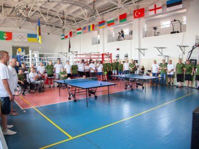 На Дніпропетровщині відбулися спортивні змагання з настільного тенісу для ветеранів війни