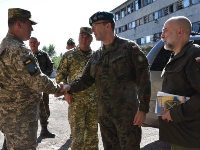 Делегація ЗС Польщі у районі ООС відвідала одну з бригад