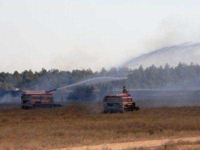 На одному з полігонів під час проведення стрільб сталась пожежа, наразі триває ліквідація її наслідків