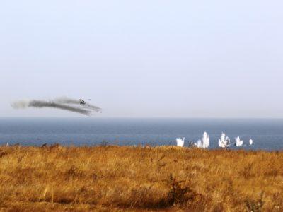 «Об'єднані зусилля – 2020»: на узбережжі Азовського моря підрозділи ДШВ та Нацгвардії знищили морський десант противника
