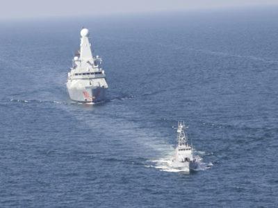 Катерна тактична група ВМС ЗСУ та англійський есмінець Dragon разом відпрацювали тактичне маневрування в морі