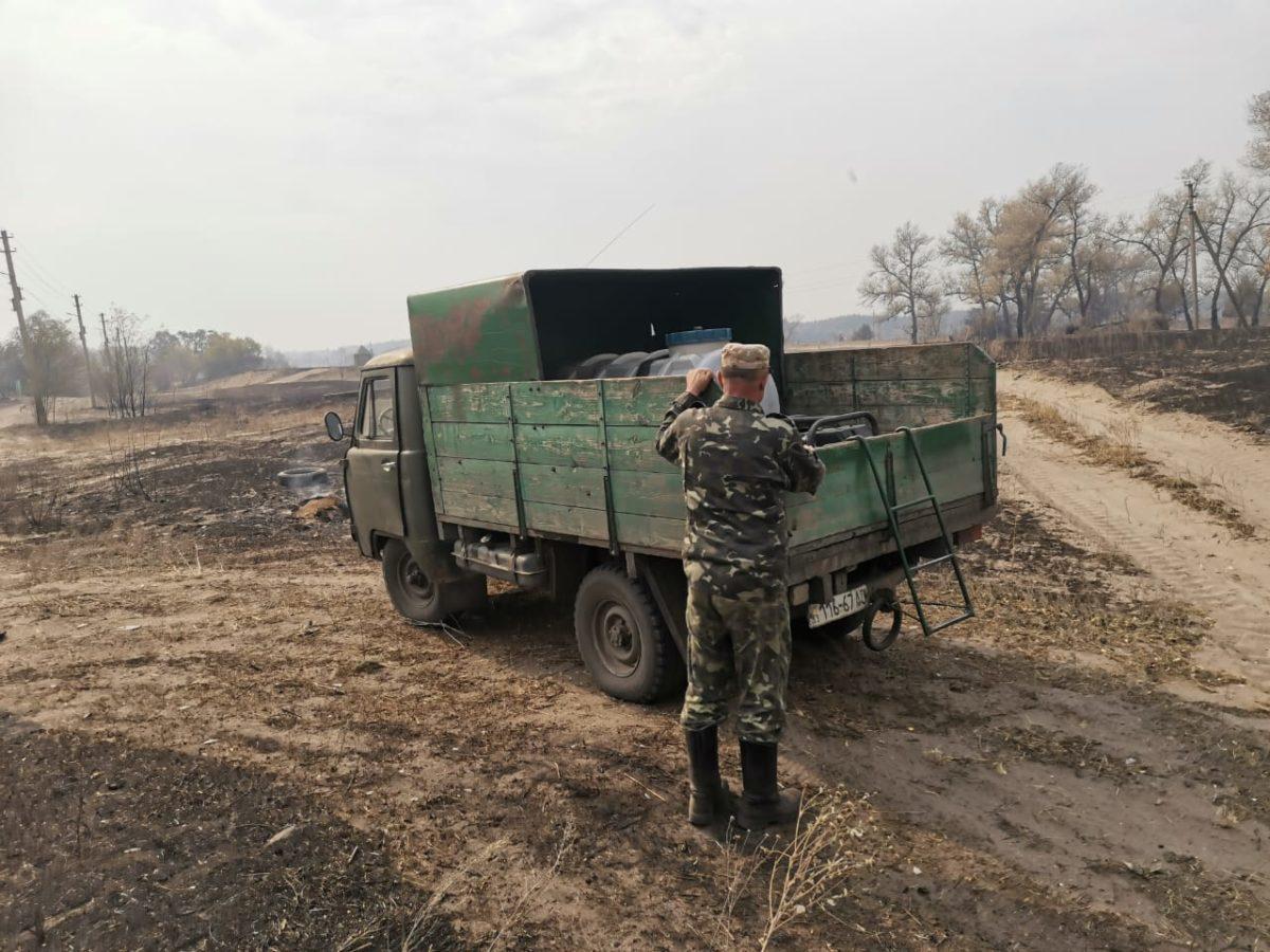 Ветерани АТО долучилися до боротьби з лісовими пожежами на Луганщині