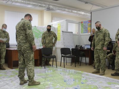Українські й американські військові тренуються разом на Львівщині