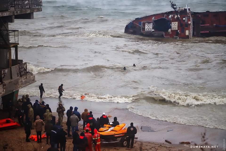 22 листопада 2019 року українські моряки провели вдалу рятувальну операцiю екiпажу Delfi