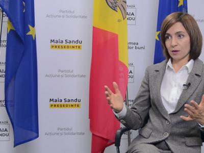 Президентка Молдови Мая Санду: «Російські війська мають піти з Придністров'я, а Крим – це Україна»