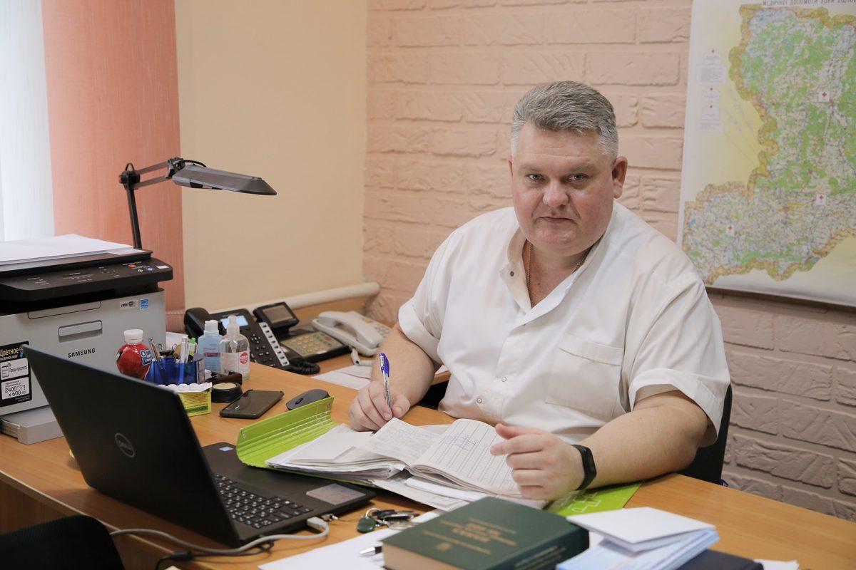 Начальник медичної частини підполковник медслужби Тарас Скрига