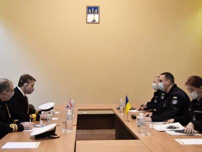 Керівництво ВМС України із представниками Великої Британії обговорили актуальні напрямки двостороннього співробітництва, зокрема, проєкт зі створення ракетних катерів