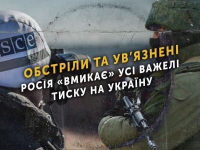 Обстріли та ув'язнені – Росія «вмикає» усі важелі тиску на Україну
