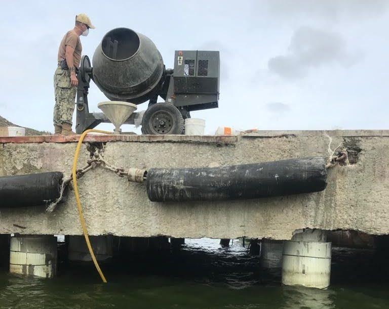 Американські військові відновили пірс на військово-морській базі українського флоту