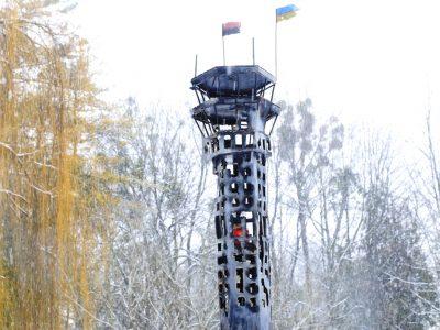 На честь «кіборгів» у Львові створили копію диспетчерської вежі Донецького аеропорту