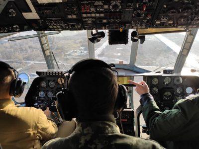У бригаді транспортної авіації здійснили перші в новому році командирські польоти з одним вимкненим двигуном