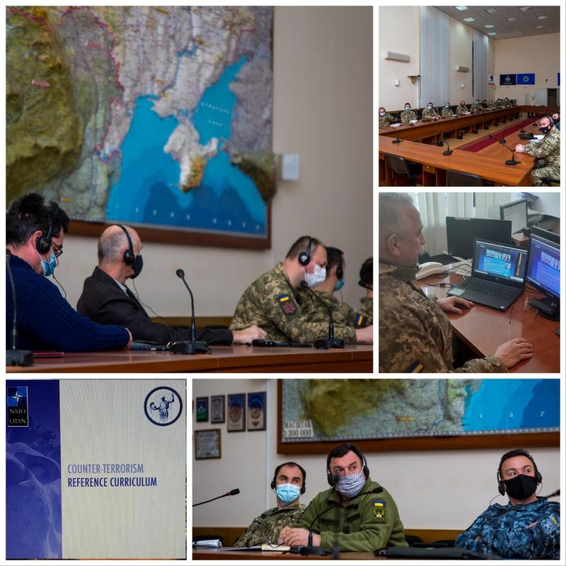 """У Національному університеті оборони України триває дистанційний навчальний онлайн-курс міжнародної програми """"Протидія тероризму"""""""