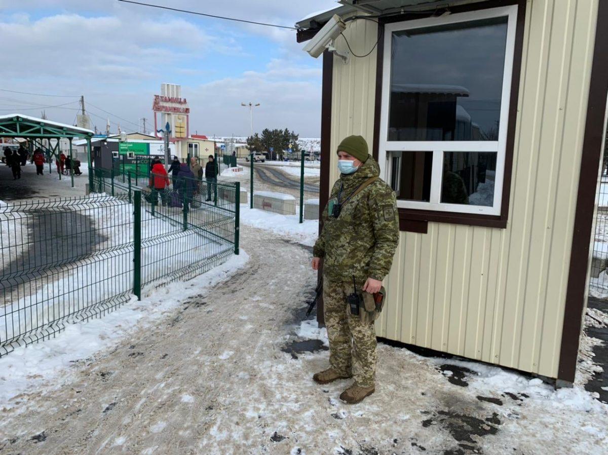 Щодо роботи КПВВ у районі проведення операції Об'єднаних сил за тиждень
