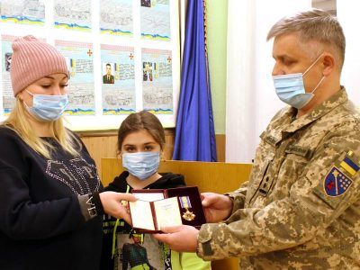 У Дніпрі родині полеглого десантника Артема Бондаренка вручили оpден «Зa мужність» ІІ ступеня
