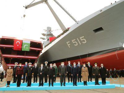 Військово-морські сили Туреччини спустили на воду перший фрегат