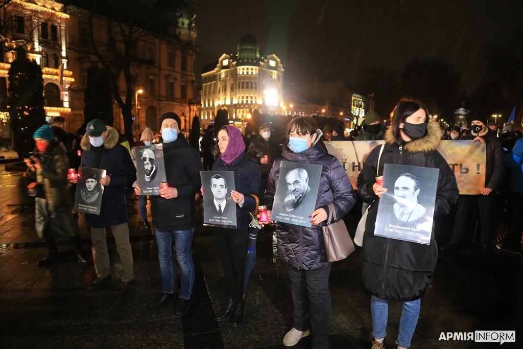 У Львові відбулася тиха хода на честь Героїв Небесної Сотні