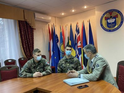 Французькі курсанти розпочали стажування у Військовому інституті КНУ імені Тараса Шевченка