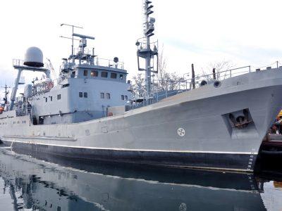 Новозбудований розвідувальний корабель проєкту «Лагуна» вийшов у Чорне море на випробування