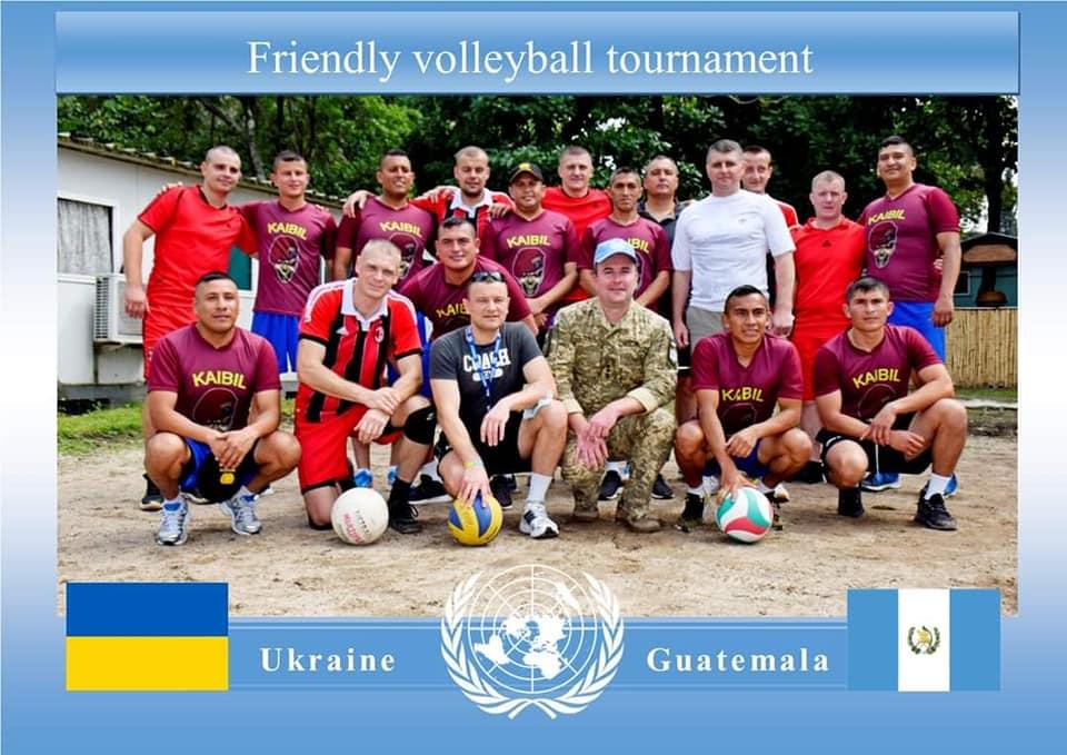 У матчі з волейболу українські військові в ДР Конго перемогли спецпідрозділ із Гватемали