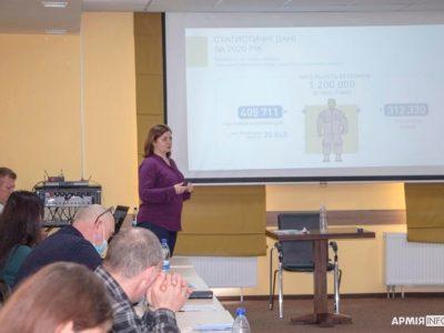 Представник Мінветеранів розповіла про сервіс «е-Ветеран» та програму з реінтеграції ветеранів у суспільство