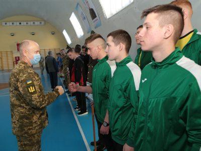 У Львові військові ліцеїсти змагаються у волейбольному турнірі на честь Героя Небесної Сотні