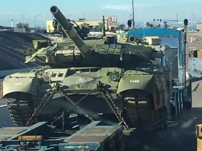 Військові США відправили танк Т-84 з України на полігон