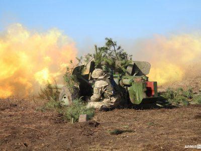 Львівські артилеристи-першокурсники роблять перші бойові постріли з «Рапіри»