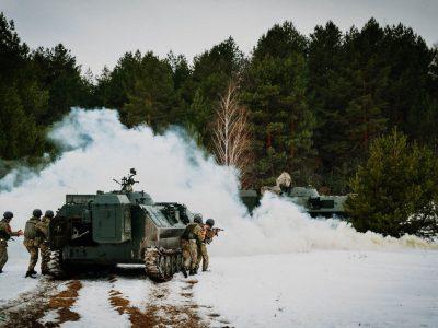 Офіцери управління бригад РВіА відпрацьовують ведення бойових дій