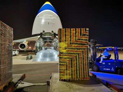 Авіатранспортний підрозділ ДП «АНТОНОВ» безпечно перевезли 80 тонн вантажу