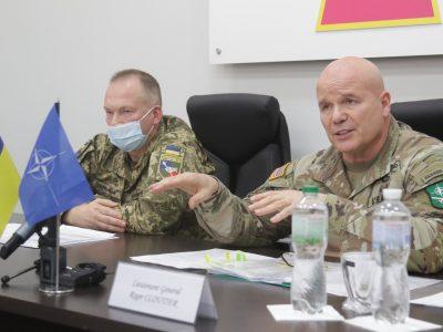Генерал-полковник Олександр Сирський: «Візит командувача Сухопутних військ НАТО є свідченням того, що Альянс бачить нашу державу як стратегічного партнера»