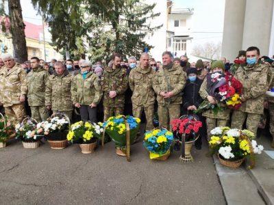 Із загиблим під Шумами військовослужбовцем Сергієм Барничем попрощалися в Калуші
