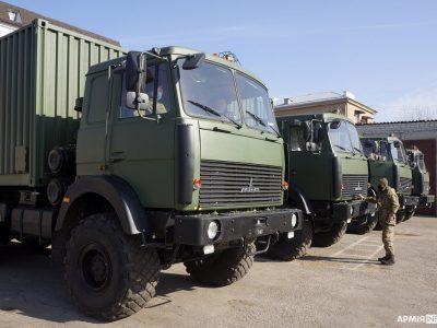 Збройні Сили отримали ще 19 мобільних лазне-пральних комплексів