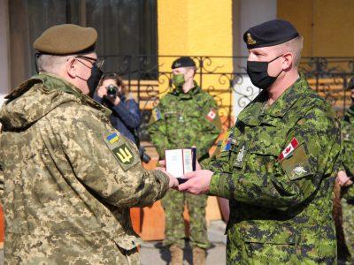 На Львівщині відбулась ротація військовослужбовців тренувальної місії ЗС Канади в Україні UNIFIER