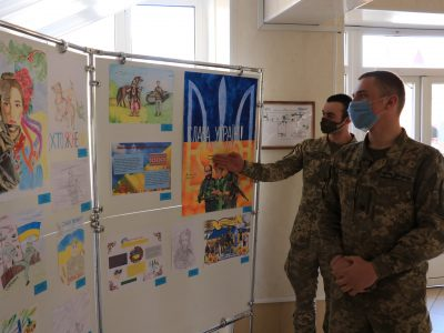 У Національній академії пройшов конкурс патріотичного плаката «З Україною в серці!»