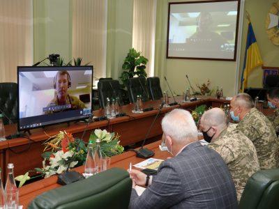 Фахівці Національної академії сухопутних військ та Військової академії США Вест-Пойнт провели онлайн-конференцію