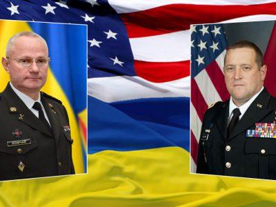 Генерал-полковник Руслан Хомчак поінформував генерал-майора Девіда Болдвіна про поточну безпекову ситуацію в районі проведення операції Об'єднаних сил