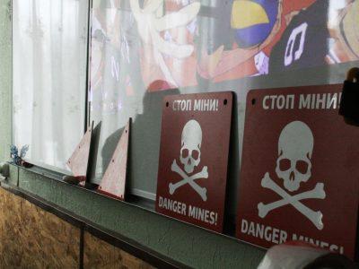 На Донеччині для школярів провели урок з мінної безпеки
